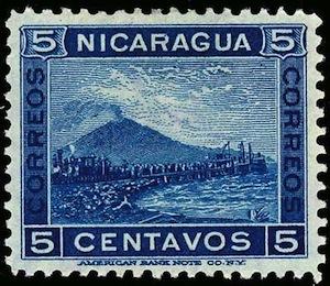 nicaragua mt momotombo 5c blue0001