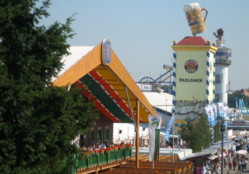 (110) View of Oktoberfest from foot of Bavaria statue