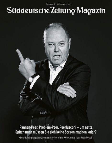Peer Steinbr¸ck auf Titel des SZ-Magazins