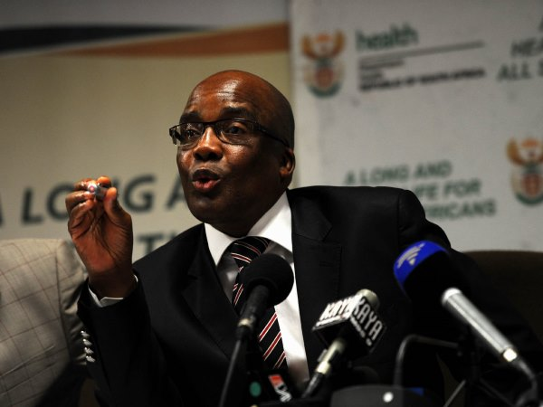 Health Minister Aaron Motsoaledi is seen during the release of the 2010 national antenatal HIV and syphilis survey during a news conference in Pretoria, Tuesday, 29 November 2011.Picture: Werner Beukes/SAPA