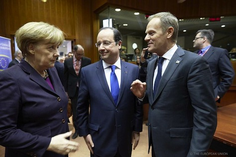 merkel hollande tusk