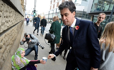 Miliband beggar