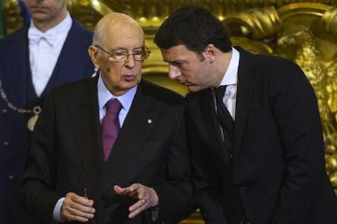 Renzi Napolitano