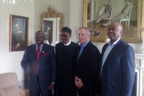 GEN BUHARI MEET TONY BLAIR IN LONDON