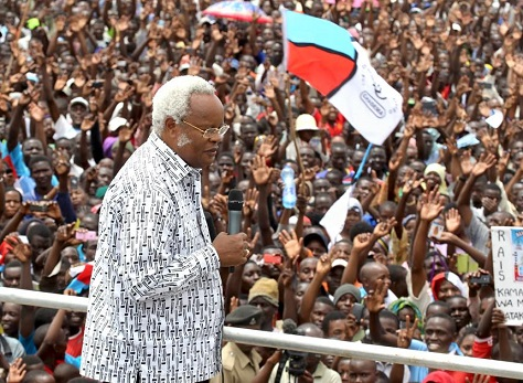 Edward Lowassa, a former prime minister, hopes now to lead the Chadema opposition party to power in Tanzania. (Facebook)
