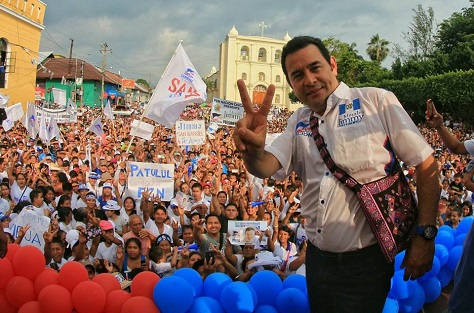 Jimmy Morales, a former comic actor and a populist, anti-corruption candidate, should easily become Guatemala's next president. (Facebook)