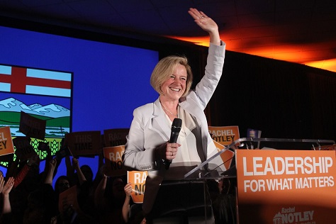 Alberta premier Rachel Notley has slowly embraced the federal NDP campaign, which hopes to gain seats in Alberta. (Facebook)