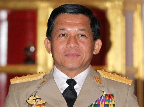 If Myanmar's ruling elite and military cling to power, Min Aung Hlaing, the commander-in-chief of the armed forces, could become its next president. (Narong Sangnak / EPA)