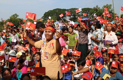 NLD supporters are enthusiastically backing 'the Lady' in Myanmar's November 8 elections. (Facebook)