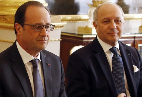 French president François Hollande and foreign minister Laurent Fabius have a strong record on successful and targeted foreign intervention. (Charles Platiau / Reuters)