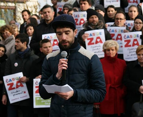 The pro-LGBT Čas je ZA group advocated a 'yes' vote in Sunday's referendum. (Facebook)