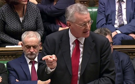Shadow foreign secretary Hilary Benn passionately supported UK airstrikes against Syria, putting him at odds with Labour leader Jeremy Corbyn.