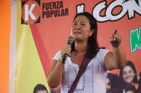 Keiko Fujimori, the daughter of Peru's controversial former leader and a runner-up in the 2011 election, is the frontrunner to become Peru's next president. (Facebook)