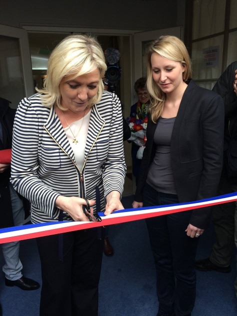 Front national leader Marine Le Pen (left) and niece Marion Maréchal-Le Pen (right) hope to win in both France's north and south on Dec. 13.