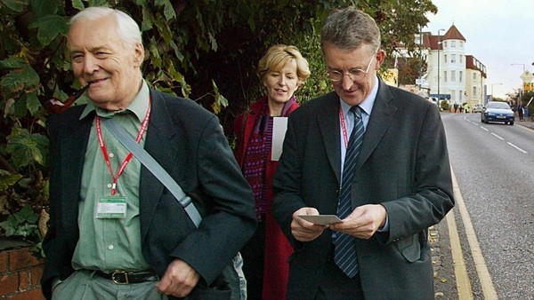 Like father, like son? Tony Benn (left, here in 2003) was the charismatic voice of Labour's hard left, even as son Hilary Benn (right) rose through the New Labour ranks.
