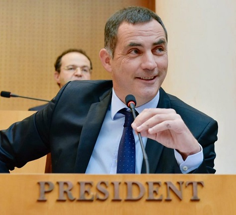 Bastia mayor and Corsican nationalist Gilles Simeoni will serve as the head of Corsica's regional executive for the next two years. (Facebook)
