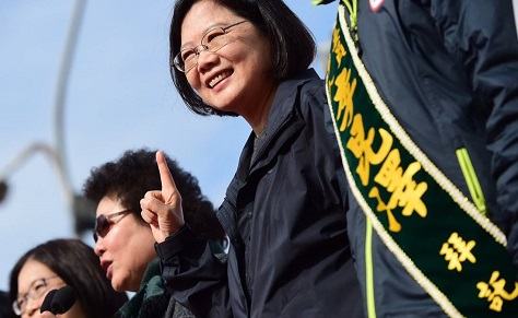 Tsai Ing-wen, the first woman to lead a country in the Chinese-speaking world, won a landslide victory in Taiwan's presidential election Saturday. (Facebook)