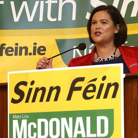 Mary Lou McDonald, the deputy leader of Sinn Féin, represents a new post-IRA, anti-austerity face. (Facebook).