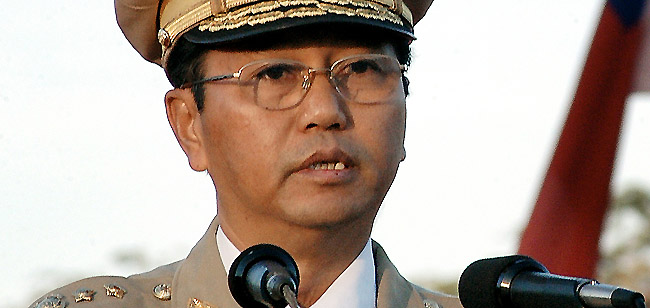 Hardline former general Myint Swe is now Myanmar's first vice president -- and one heartbeat away from power. (AP)