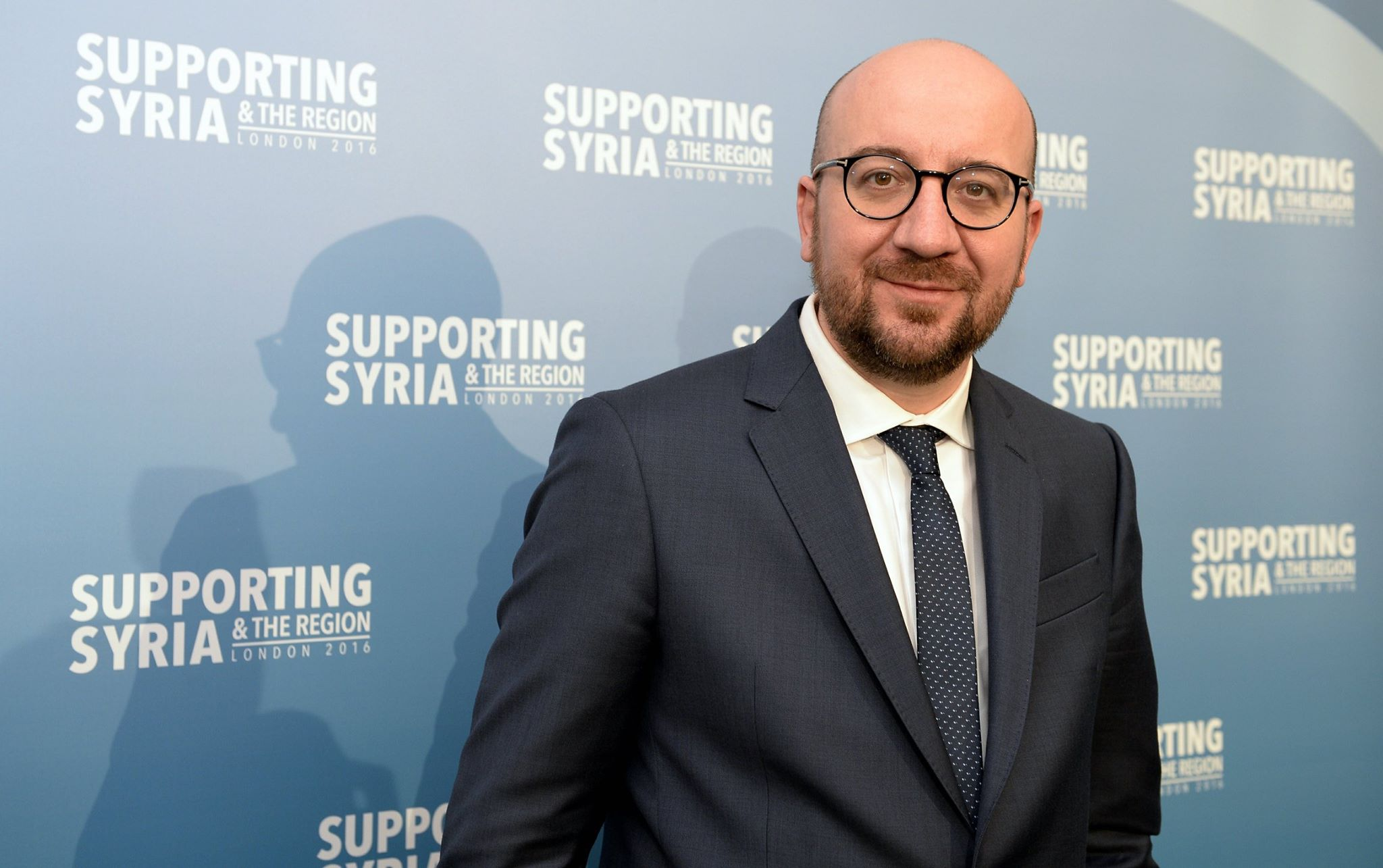 Belgian prime minister Charles Michel, in happier times, at a pro-refugee event earlier this year. (Facebook)