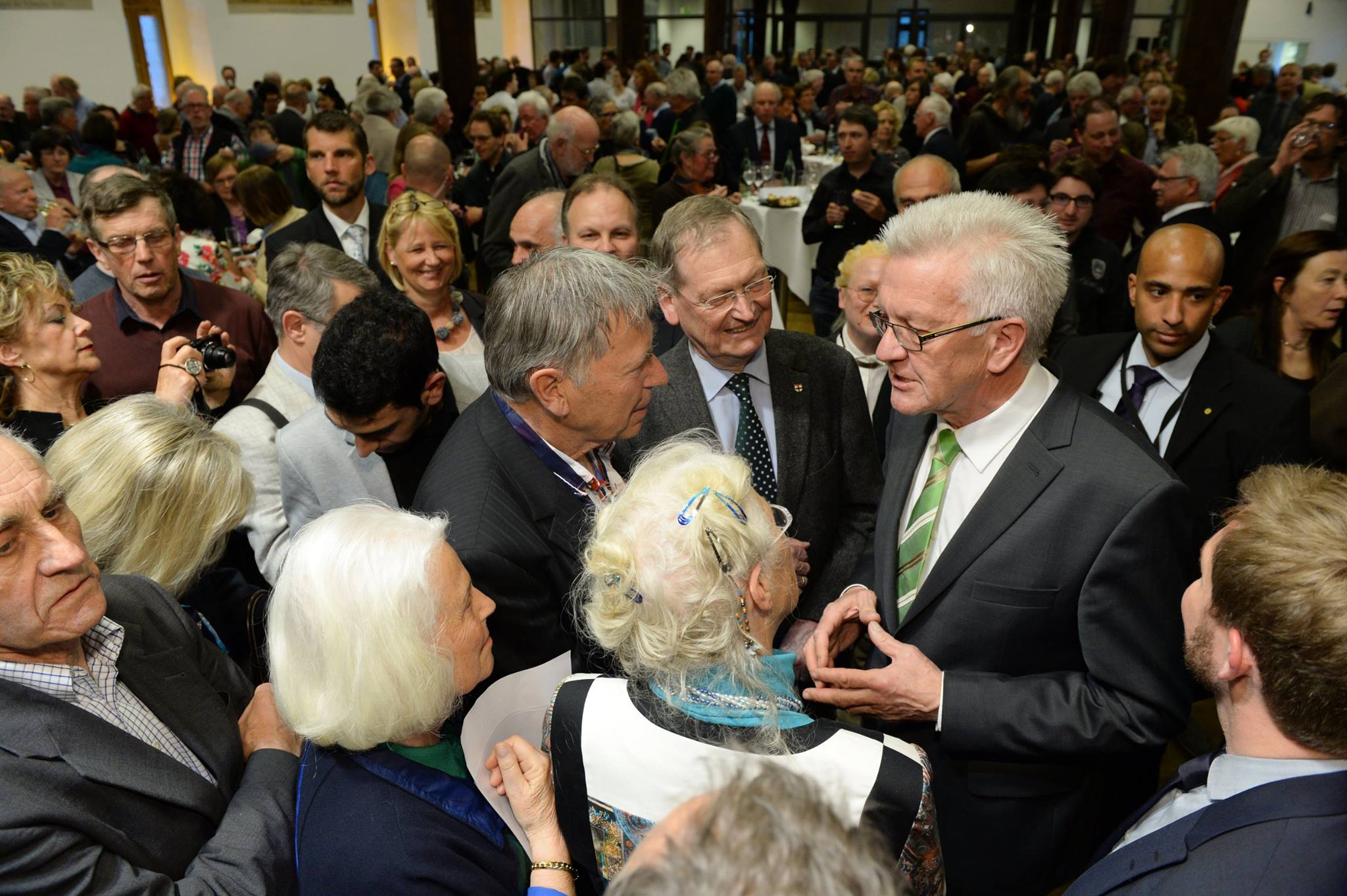 Germany's only Green minister-president, Winfried Kretschmann, has won widespread in conservative Baden-Württemberg. (Facebook)