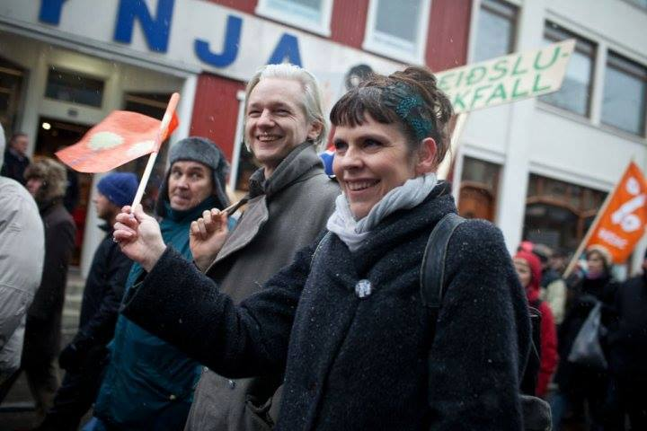 Birgitta Jonsdottir is the leader of the Pirate Party, which now leads polls in Iceland. (Facebook)