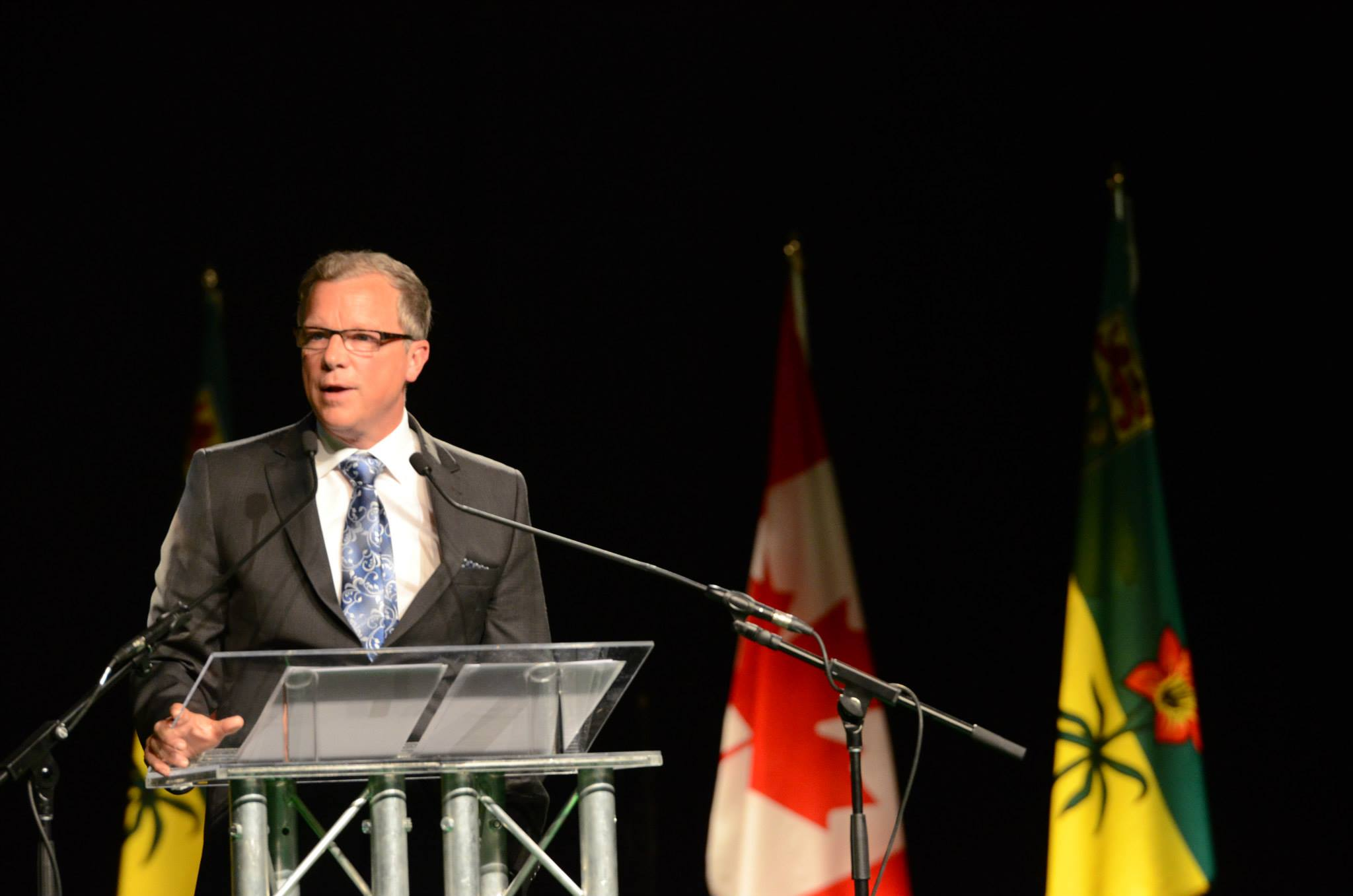 Brad Wall, Saskatchewan's premier, is likely to win a third term in office on Monday. (Facebook)