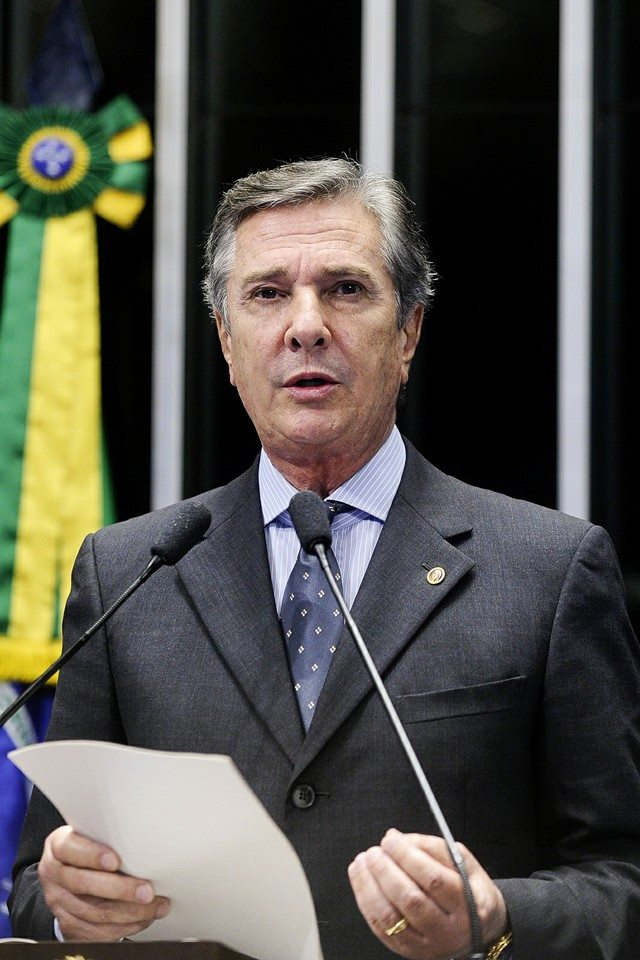 Elected to Brazil's Senate in 2006, Collor is a top supporter of Lula and Rousseff, though he is also under investigation in the current Petrobras kickback scandal. (Facebook)