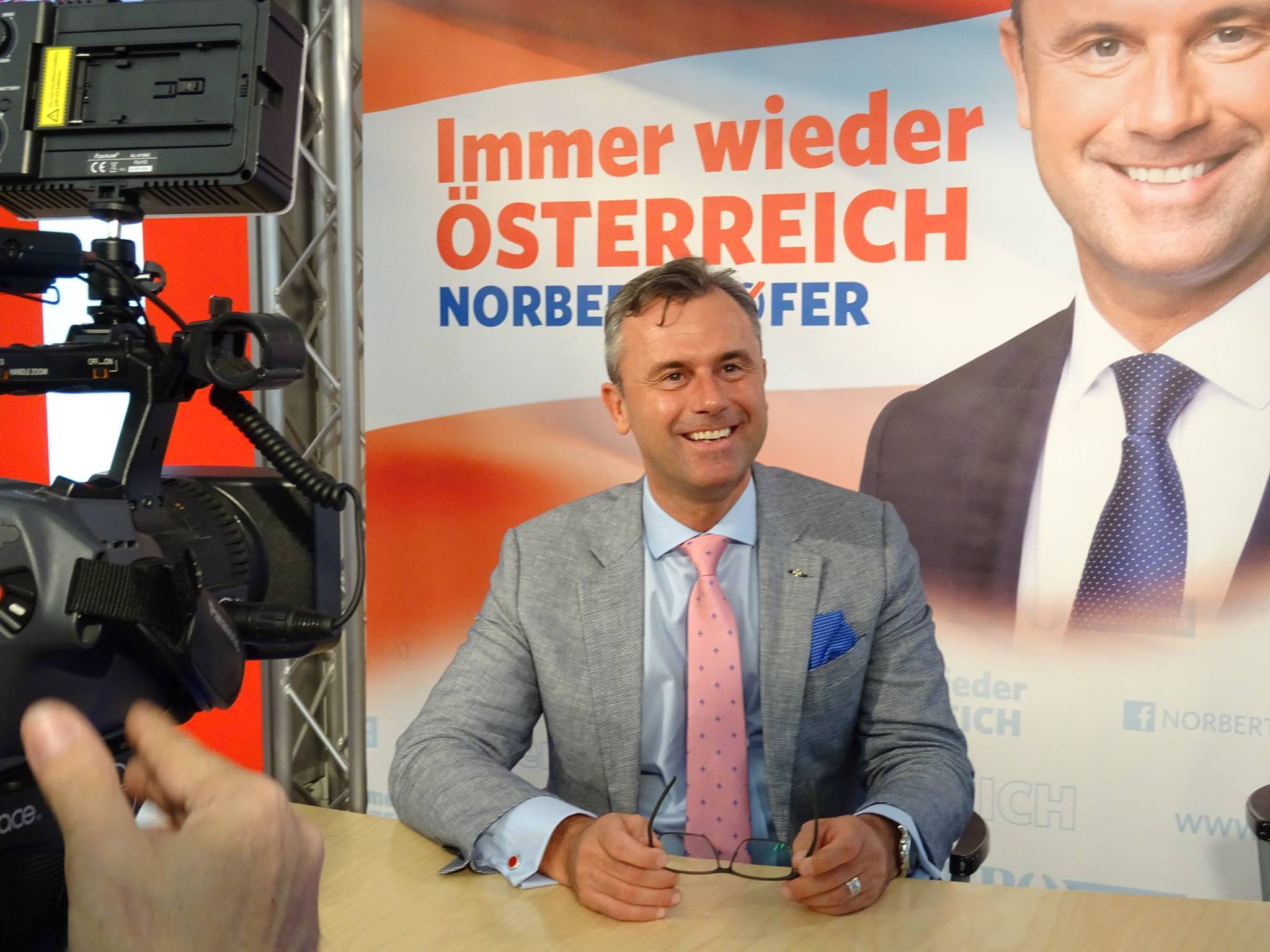 Far-right presidential candidate Norbert Hofer easily won the first round of Austria's presidential election. (Facebook)