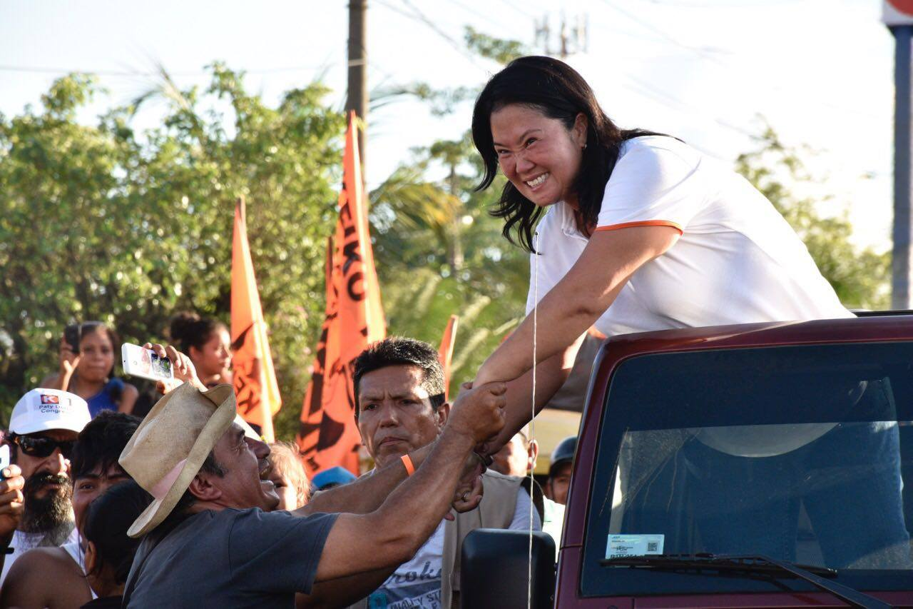 Keiko Fujimori is set to win with ease the first round of Peru's presidential election on Sunday. (Facebook)