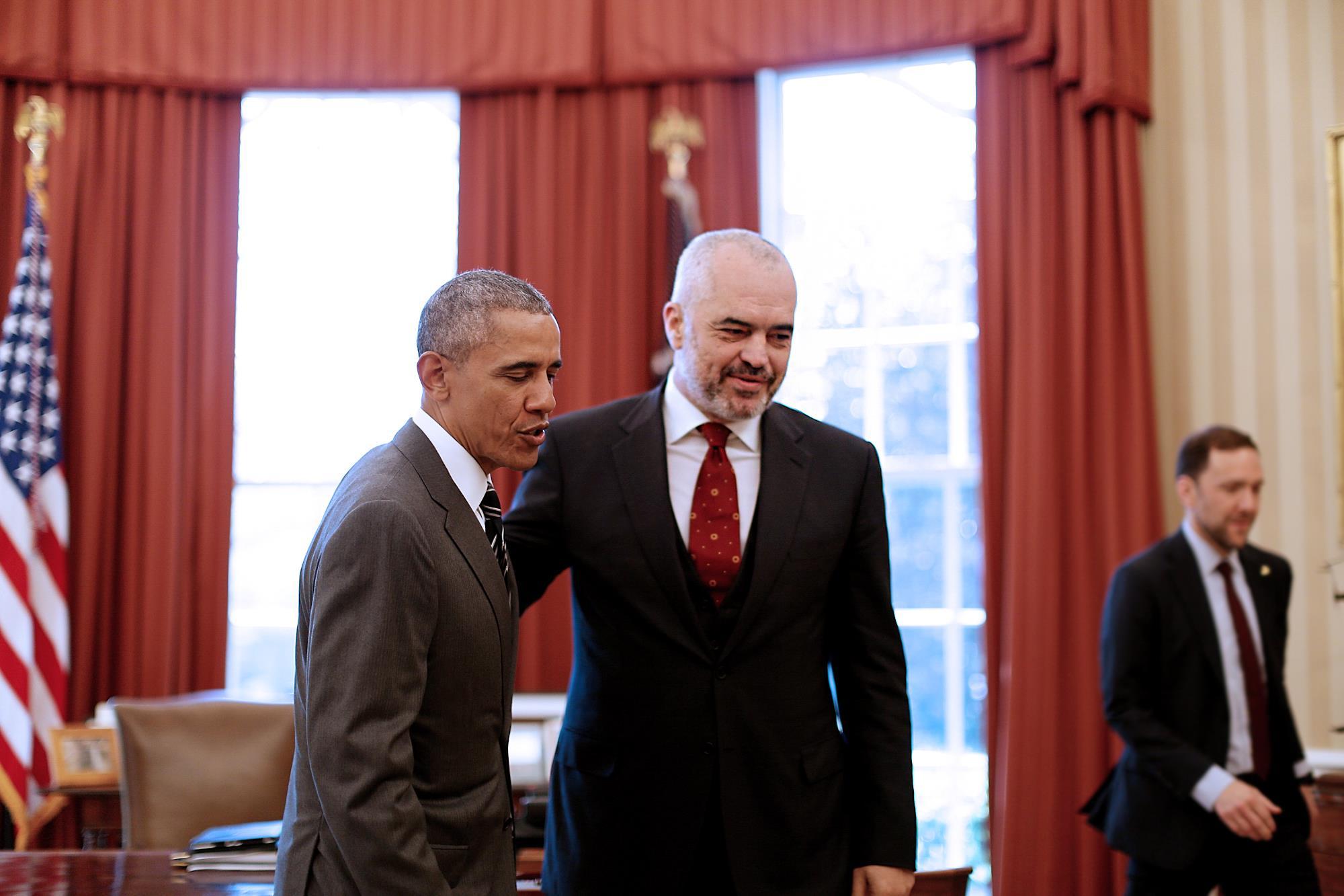 Albania's pro-European, pro-reform prime minister Edi Rama met with US president Barack Obama last week. (Facebook)