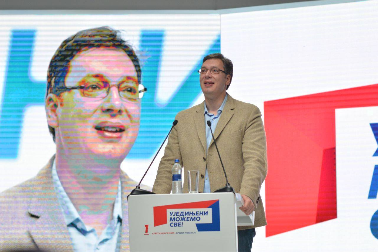 Serbia's prime minister Aleksandar Vučić hopes to renew a four-year mandate in Sunday's snap elections. (Facebook)
