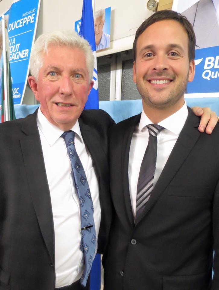 Former BQ leader Gilles Duceppe (left) and former PQ minister Alexandre Cluotier (right) represent the two generational wings of the separatist movement. (Facebook)