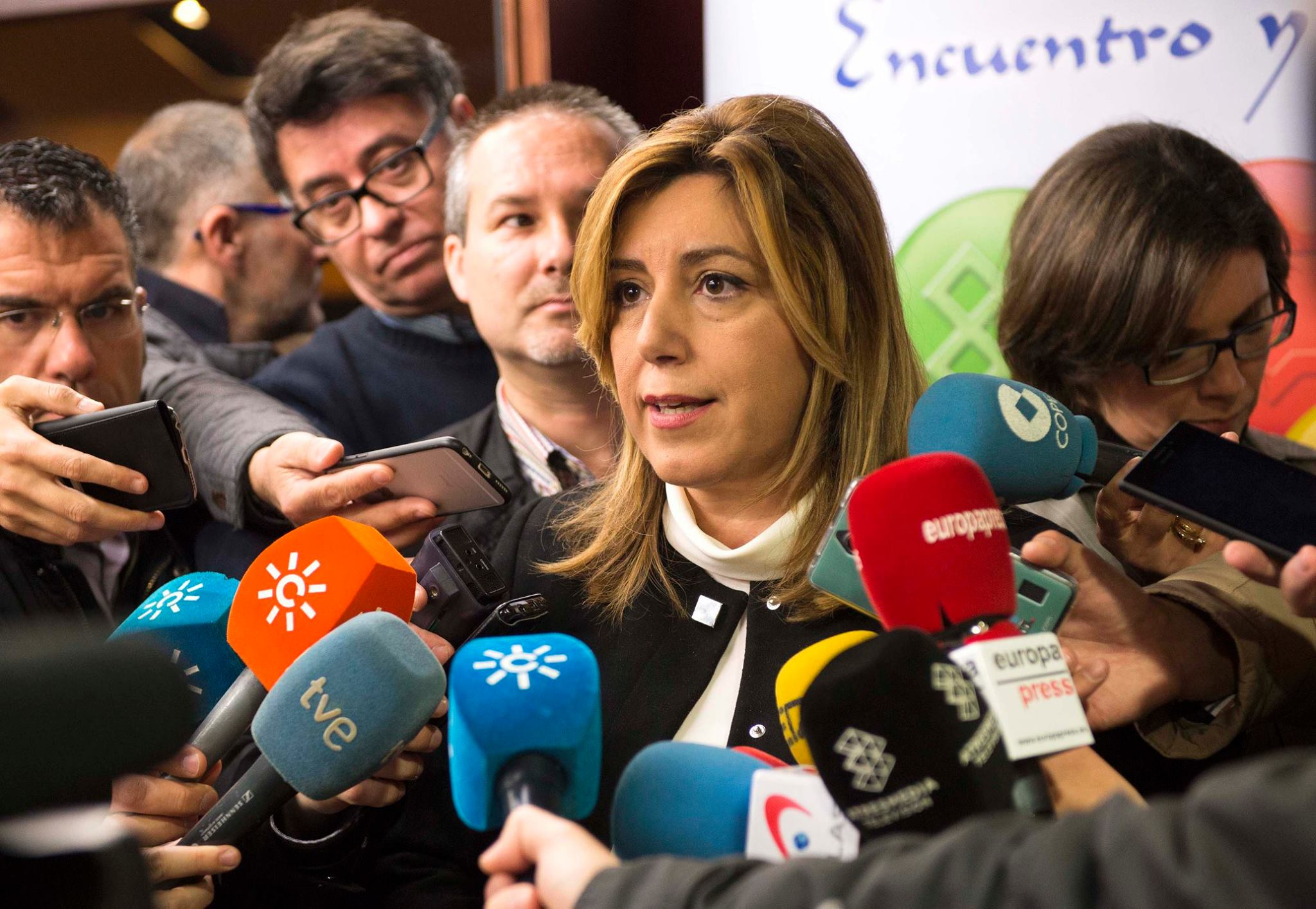 Andalucía regional president Susana Díaz has prevented the PSOE from seeking support from separatists. (Facebook)