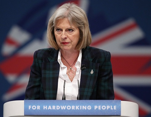 Home secretary Theresa May has a clear path to succeed David Cameron at 10 Downing Street. (Oli Scarff / Getty Images)