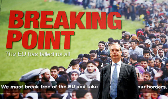 UKIP leader Nigel Farage made immigration the heart of his campaign to leave the European Union. (PA)