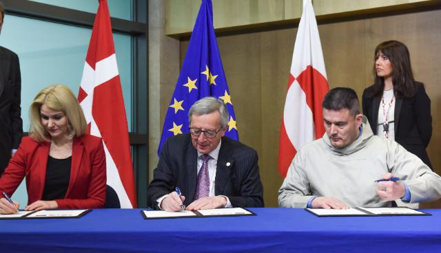 In 2015, Greenlandic prime minister Kim Kielsen signed a new declaration over EU relations.