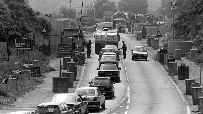 Few Protestants or Catholics want to go back to the days of a land border between Northern Ireland and the Republic of Ireland. (BBC)