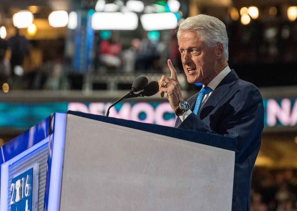 Bill Clinton addressed the Democratic National Convention Tuesday night in Philadelphia. (Facebook)