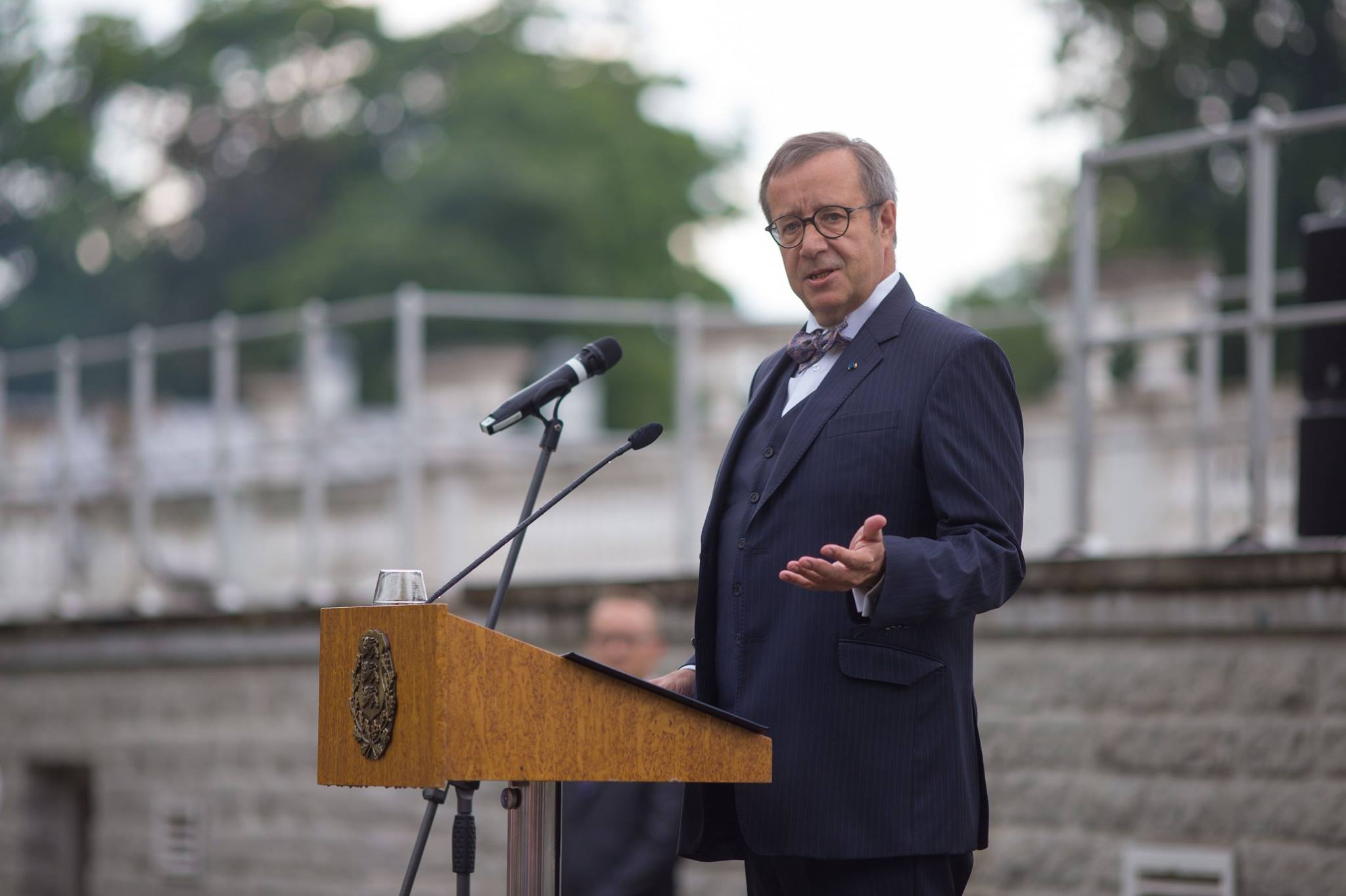 Estonian president Toomas Hendrik Ilves pushed back against Trump's notion that Estonia hasn't 'fulfilled its obligations' to NATO. (Facebook)