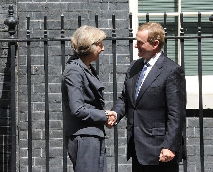 Ireland's Enda Kenny joined Theresa May at 10 Downing Street on Tuesday to discuss bilateral relations and Brexit. (Facebook)