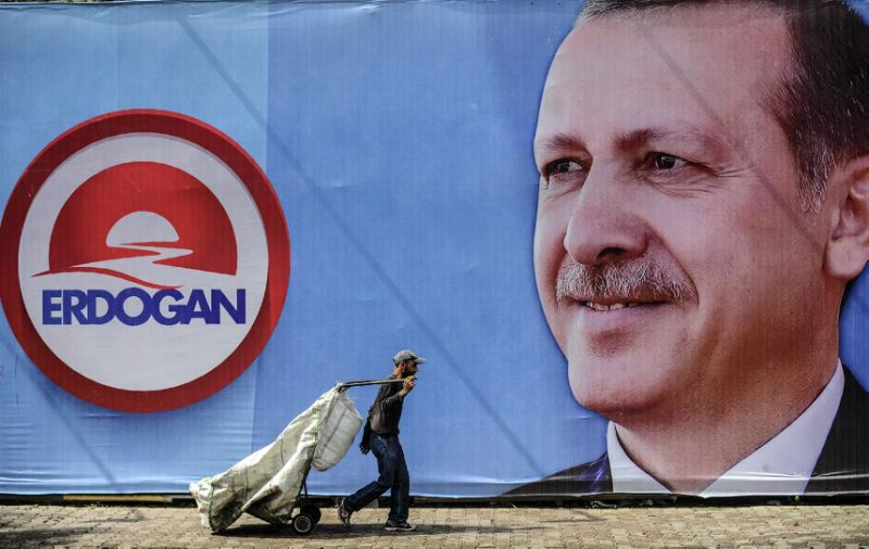 Over nearly 15 years in power, Erdoğan has shifted from democratic to more autocratic rule. (Ozan Kose / AFP)