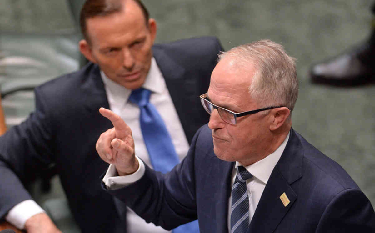 Prime minister Malcolm Turnbull may face a comeback bid from the rival he ousted last September, Tony Abbott (AAPIMAGE / Alan Porritt).