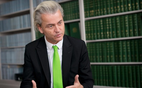 The majority of polls show that Geert Wilders is leading in advance of the next Dutch election. (Geoff Pugh / The Telegraph)