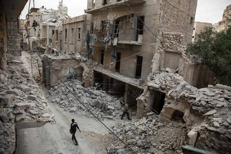 Aleppo is currently under siege by all sides in the Syrian civil war. (Karam Al-Masri / AFP / Getty)