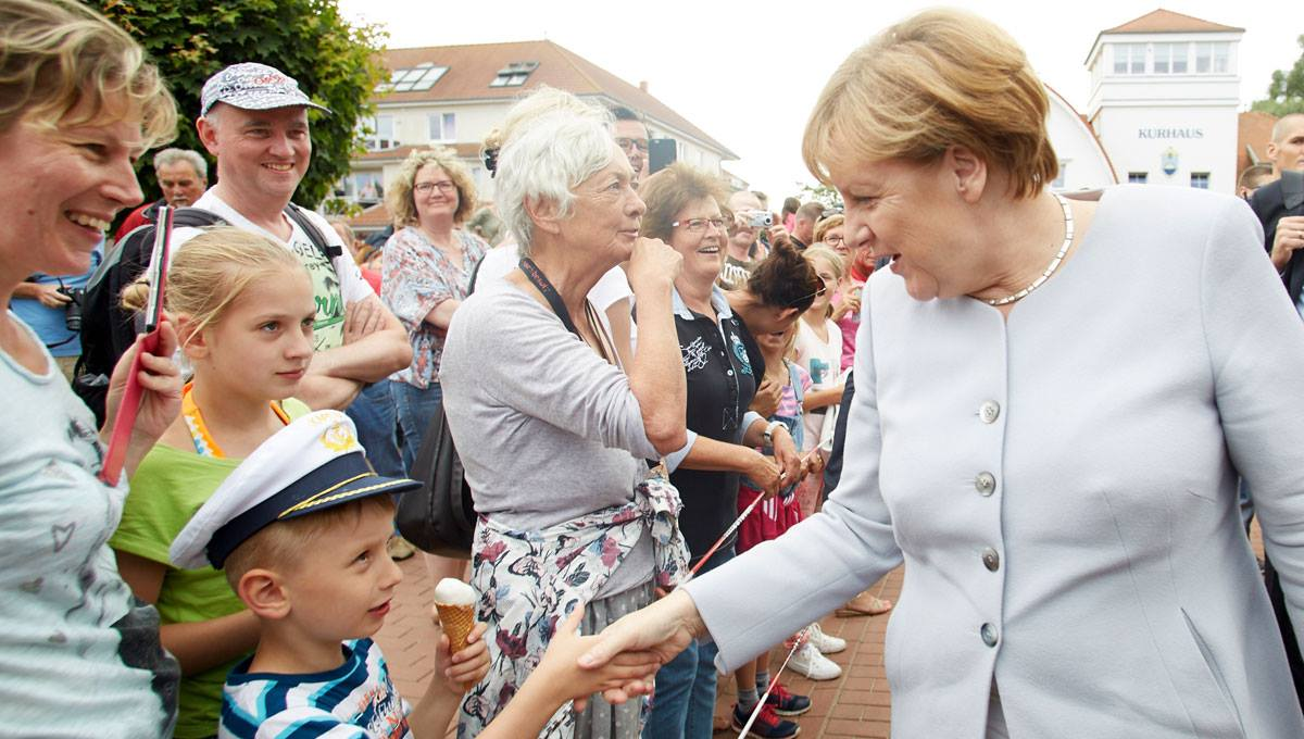 German chancellor Angela Merkel hopes to deny Germany's new anti-immigration right a victory in Mecklenburg-Vorpommern. (Facebook / Laurence Chaperon)