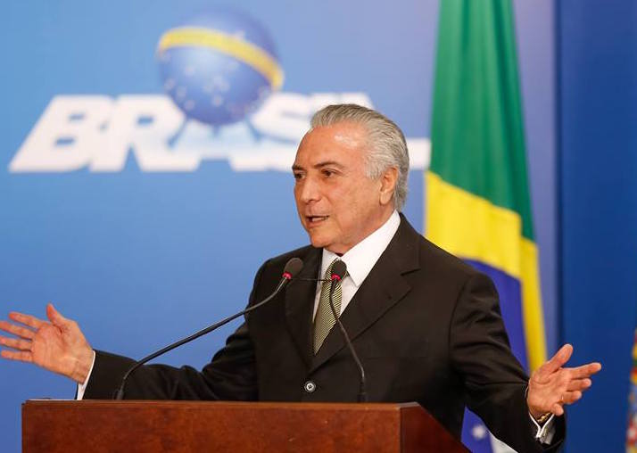 Interim president Michel Temer was booed at the opening ceremony for the Rio de Janeiro Olympic Games. (Facebook)