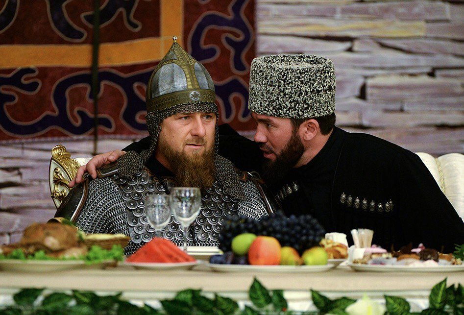 Ramzan Kadyrov celebrated his reelection as Chechen governor by donning a suit of armor. (TASS)
