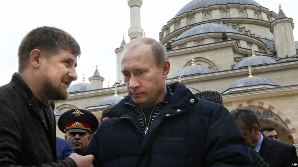 "Both Russian president Vladimir Putin and Chechnya's governor Ramzan Kadyrov face ""votes"" on Sunday. (AFP)"