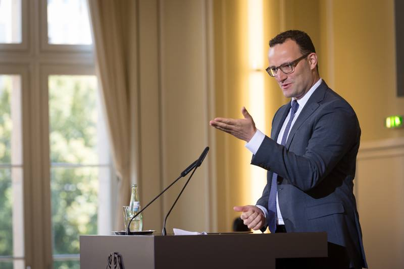 Jens Spahn, an ambitious 36-year-old rising star, openly gay CDU MP and a parliamentary state secretary in Wolfgang Schäuble's finance ministry, is far to Merkel's right on migration. (Jörg Rüger / BMF)